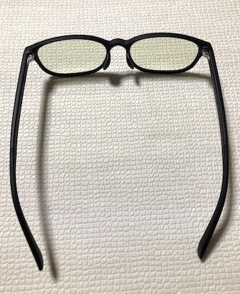ブルーライトメガネ後ろから
